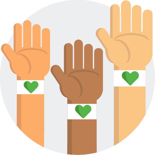 Green Giving Human Service logo